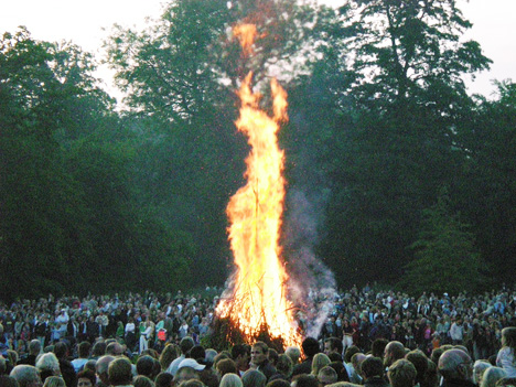 Sankt Hans Eve events in Denmark